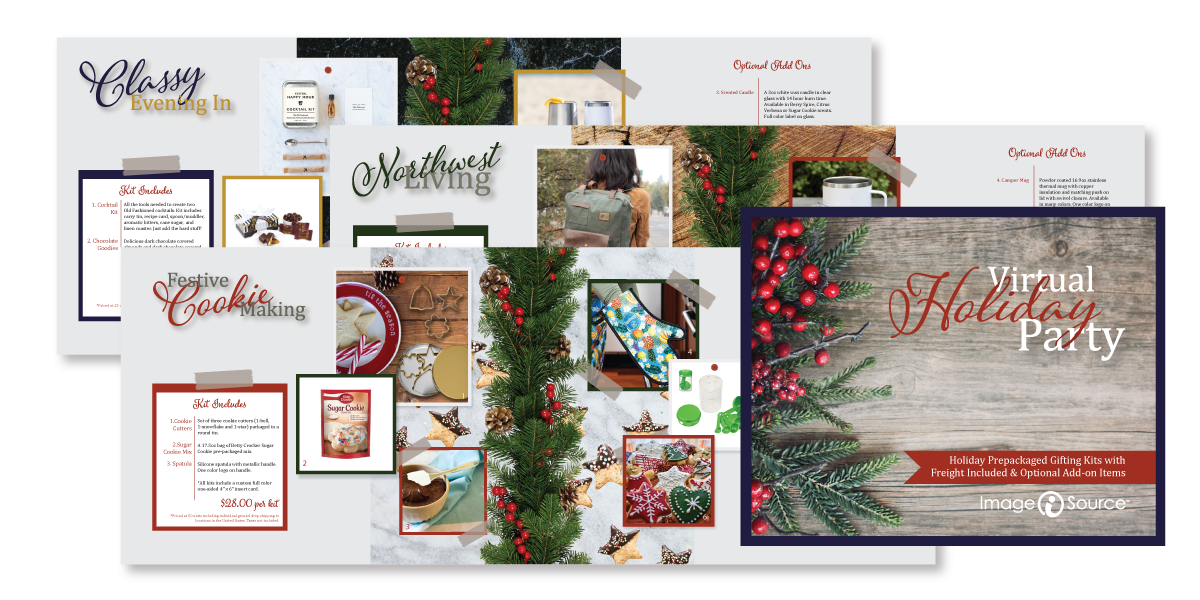 Screen shot of interior pages of Holiday Catalog
